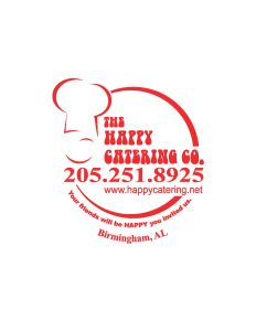 Happy Catering Chef round logo